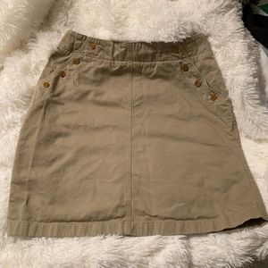 Ruff Hewn Khaki Skirt with buttons on each side 12
